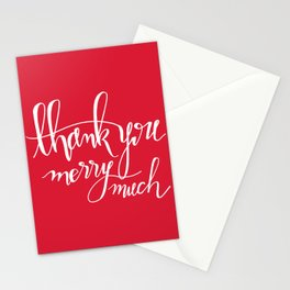 Thank You Merry Much - Red Stationery Cards