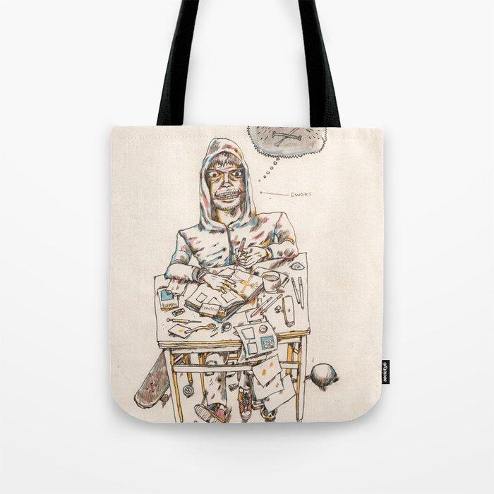 Autorretrat amb ewoks Tote Bag