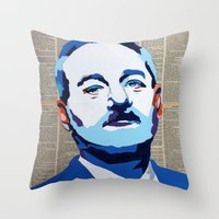 bill murray Throw Pillows featuring Bill Murray by VenusArtist