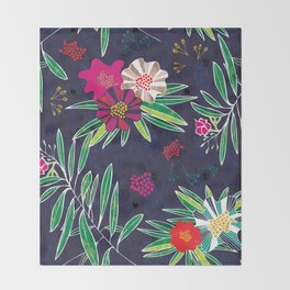 Neo Rainforest-Twillight Throw Blanket