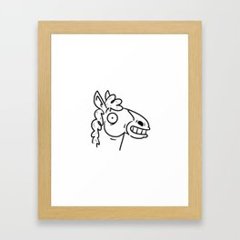 Mr Horse Framed Art Print