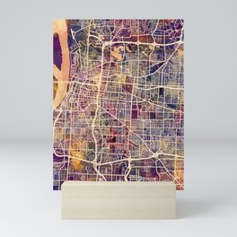 Memphis Tennessee City Map Mini Art Print