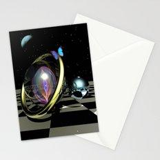 Dark night magic, 3D fantasy art Stationery Cards