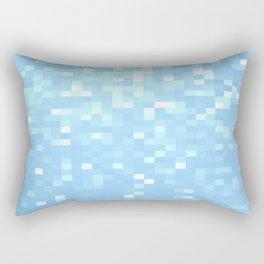 Blue Pixels Rectangular Pillow