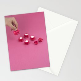 Tiny pink tea party Stationery Cards