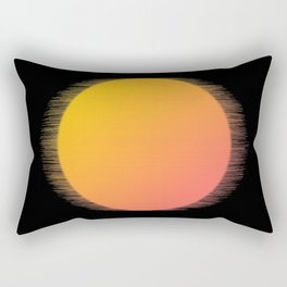 Orange Moon Black Sky Rectangular Pillow