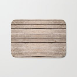 Weathered boards texture abstract Bath Mat