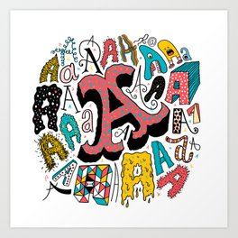 A's Art Print