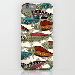 Alaskan salmon pearl iPhone Case