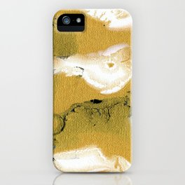 Gold Black & White Abstract Art III iPhone Case