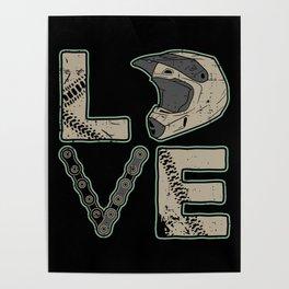 I Love Dirt Bike | Motocross Poster