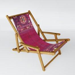 Shakhrisyabz  Southwest Uzbekistan Suzani Embroidery Print Sling Chair