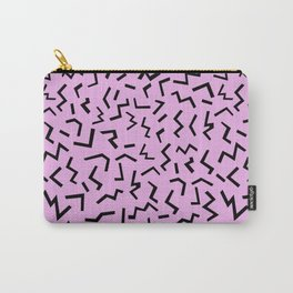 Zig Zag pattern geometric angular minimal modern print design charlotte winter Carry-All Pouch