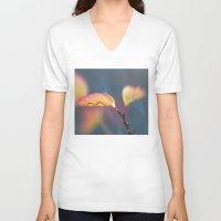 leaf V-neck T-shirts featuring Leaf by Dora Birgis