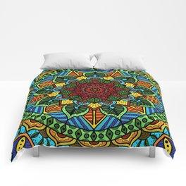 Circle of Life Mandala full color Comforters
