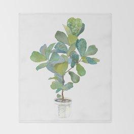 Fiddle Leaf Fig Tree Throw Blanket