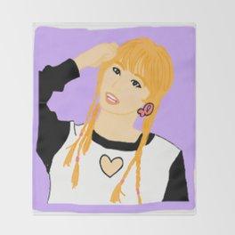 Knock Knock! Momo Purple Throw Blanket
