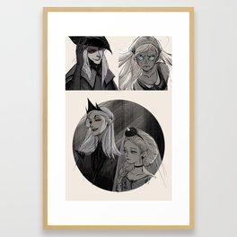 Inktober 00 Oc from my own story Framed Art Print