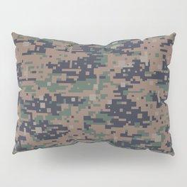 Marines Digital Camo Digicam Camouflage Military Uniform Pattern Pillow Sham