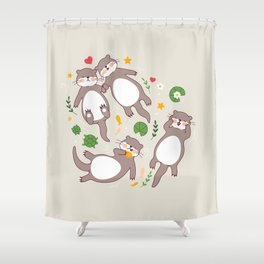 Significant otters Shower Curtain