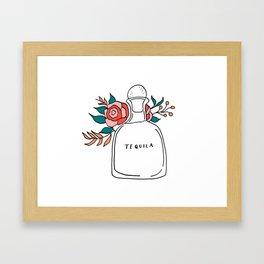 Floral Tequila Framed Art Print