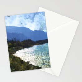 Peace In The Valley - Landscape Art Stationery Cards