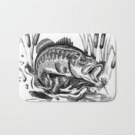Black Bass Bath Mat