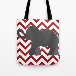 Roll Tide Elephant Crimson Tide Alabama Tote Bag