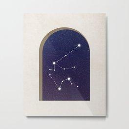 Aquarius Night - Constellation Metal Print