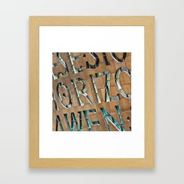 The writing's on the wall Framed Art Print