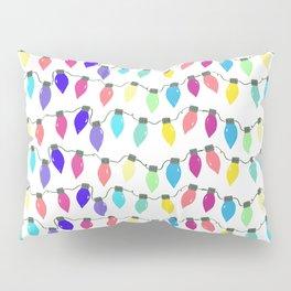 Rainbow Christmas Light Bulbs Pillow Sham