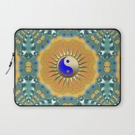 Sunshine YinYang Teal Orange Laptop Sleeve