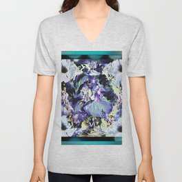 Where Flowers Are Created Unisex V-Neck