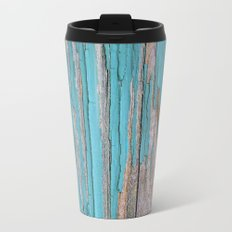 Rustic turquoise weathered wood shabby style Travel Mug