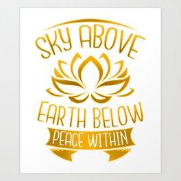Yoga Meditation Gifts for Zen Mindfulness Art Print