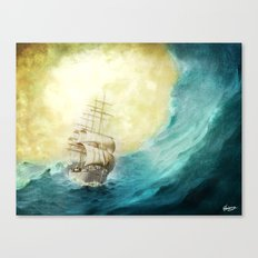 Through Stormy Waters Canvas Print