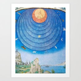 Spheres of Heaven Are Shown As Inside A Dome Art Print