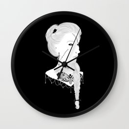 Love Me Deathly Cameo Wall Clock