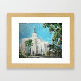 San Salvador El Salvador LDS Temple Framed Art Print