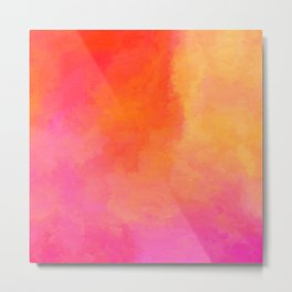 Texture orange kisses pink Metal Print
