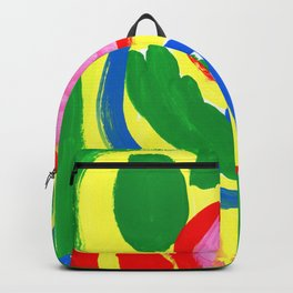 Primary Colors Colorful Abstract Modern - What Colors of Flowers Did You Like When You Were Kids? Backpack