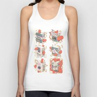 cigarettes Tank Tops featuring Cigarettes Deluxe by Kensausage