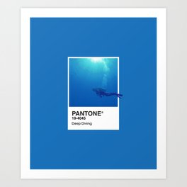 Pantone Series – Deep Diving Art Print