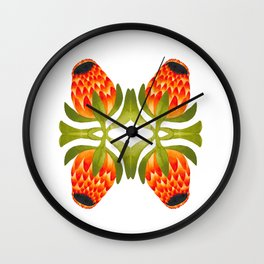 Floral symmetry 1. Wall Clock