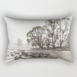 Early morning forest and creek Rectangular Pillow