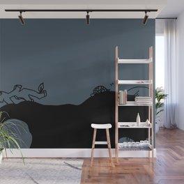Listen and sleep - Night blue Wall Mural