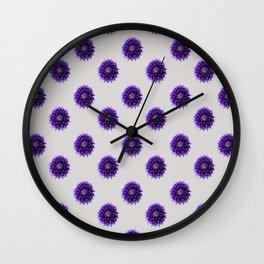 Tulip_Flora_Dahlia repeat pattern Wall Clock