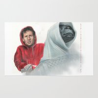 mulder Area & Throw Rugs featuring Mulder and the ET files by Magdalena Almero