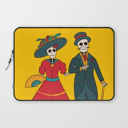 Catrina Couple Mexican Day Of The Dead Laptop Sleeve
