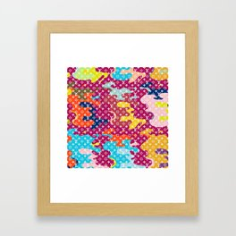 Bougie Buitton Camouflage Framed Art Print